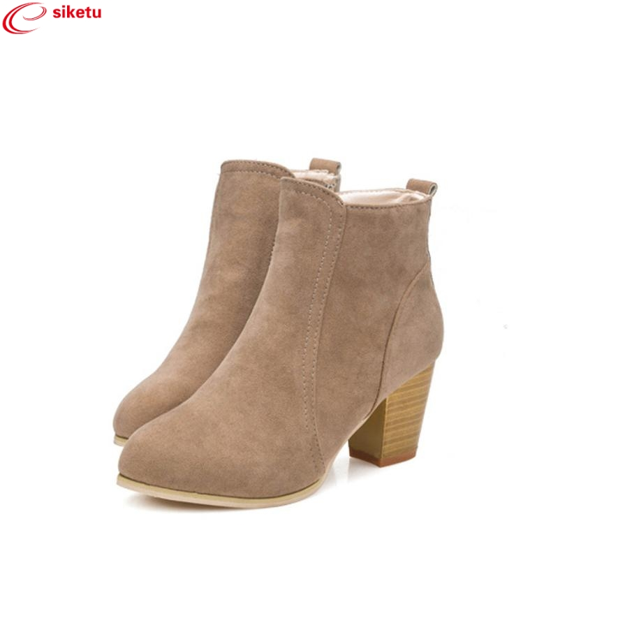 siketu Charming Nice Wholesale 2017 Autumn Winter Boots With High Heels Boots Shoes Martin Boots Women Ankle Drop Shipping Dec30 five lectures psychoanalysis
