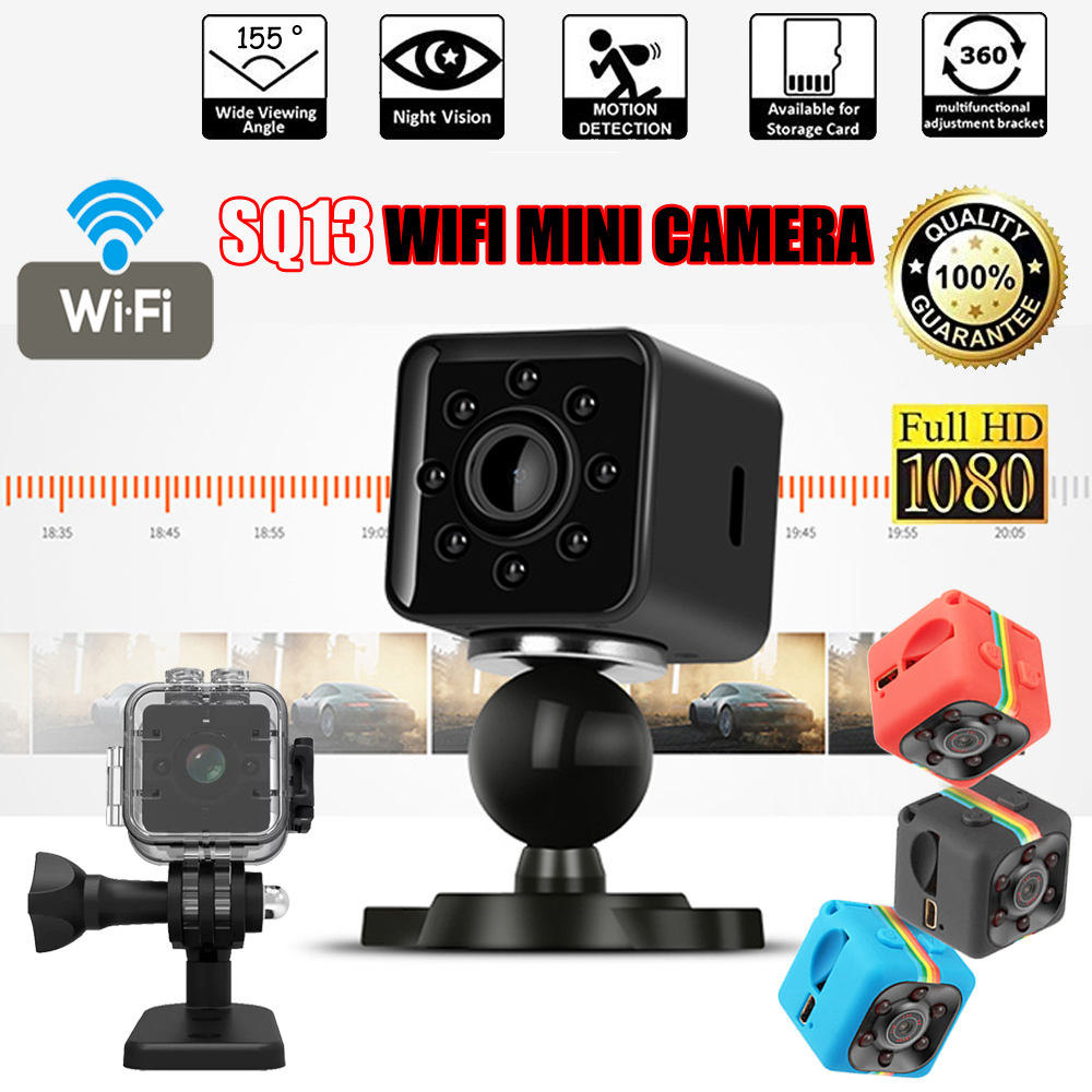 цена Original SQ11 SQ13 Micro Camera HD 1080P DV Mini 12MP Sport Camera Car DVR Night Vision Video Voice Recorder Mini Action Cam
