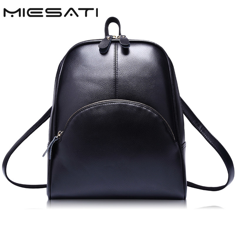 MIESATI Fashion Women Backpack High Quality Youth Leather for Teenage Girls Female School Shoulder Bag Bagpack mochila Backpacks leadership style and performance