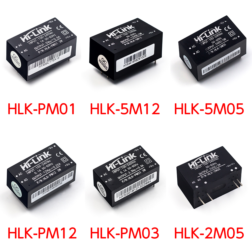 HLK-PM01/03/12 HLK-5M05/12 HLK-2M05 AC-DC 220V to 5V/3.3V/12V Mini Power Supply Module Intelligent Household Switch Power