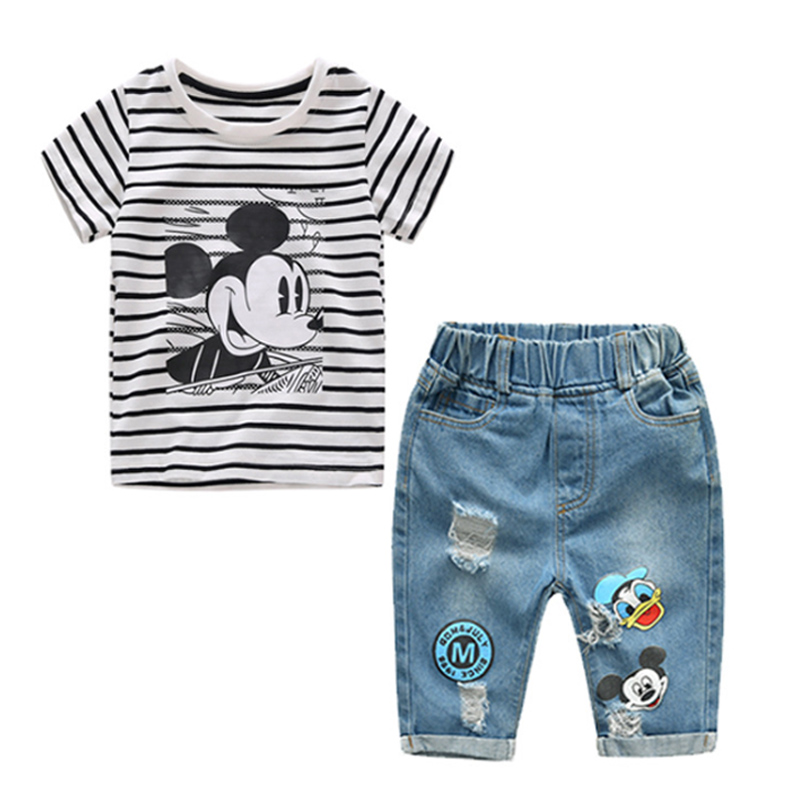 2fa6a3dccb79e 2019 Mickey Mouse Clothing Infant Boys Girls Summer Cartoon T Shirt ...