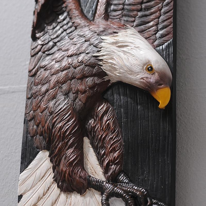Wall decoration 3D Animal Painting Eagle Elephant Deer Bull Mural Resin 3