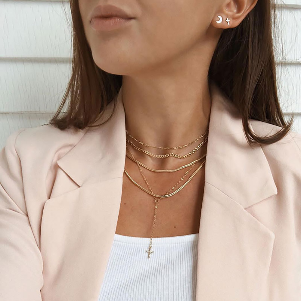 Bls-miracle New Multi-layer Sequins Necklace For Women BOHO DIY Multiple Styles Chokers Necklaces Collar Fashion Jewelry Gift