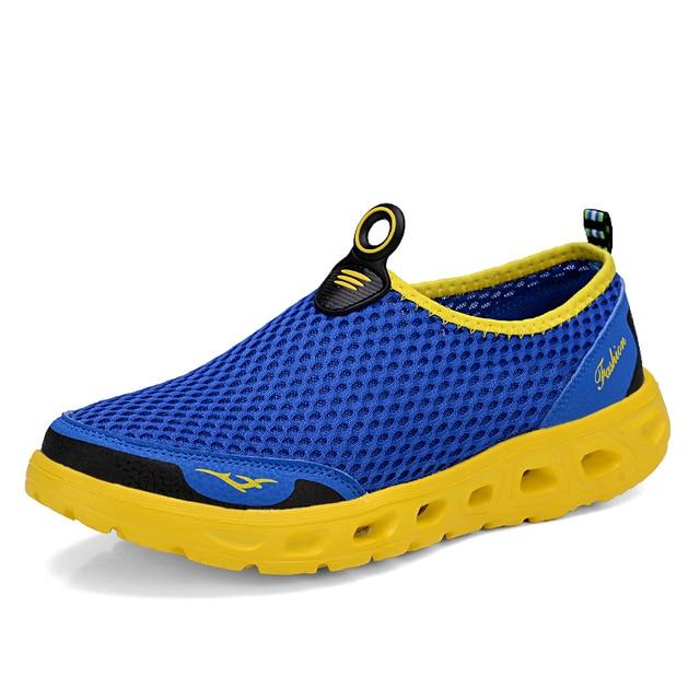 男性の靴 2019 ファッションブランドメッシュ靴高品質通気性スリップ夏カジュアルシューズ