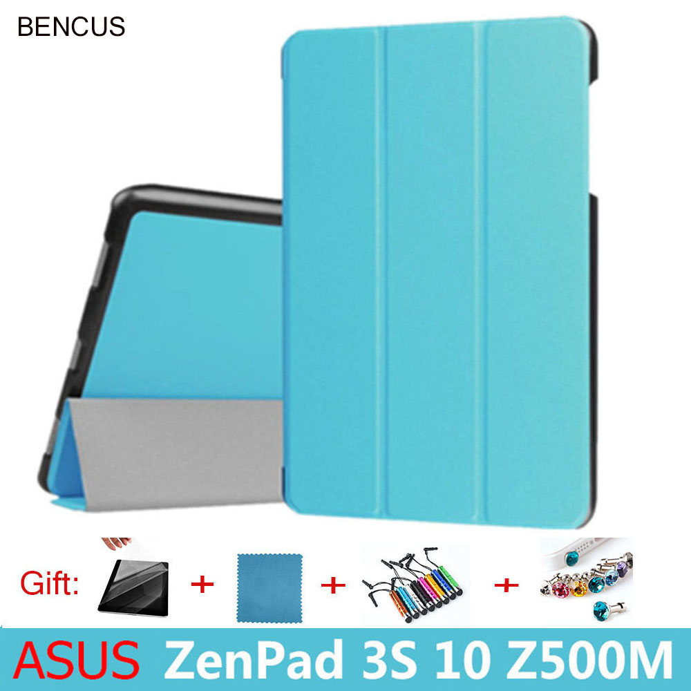 BENCUS Sale High Quality Pu Cover Case Magnetic Folio Stand Protective Shell for Asus Zenpad 3s 10 Z500m Z500 10 tablet