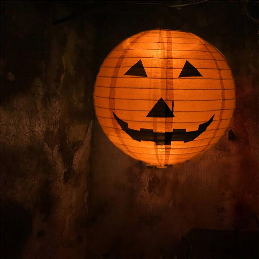 Halloween Paper Pumpkin Hanging Lantern