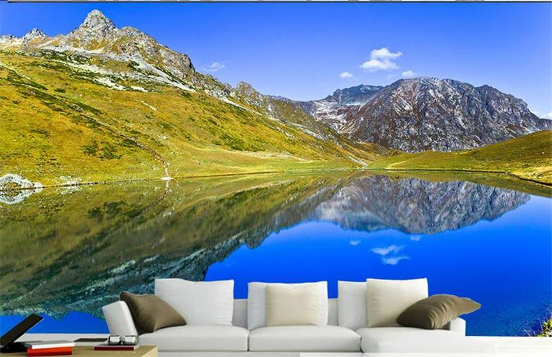 custom photo 3d wallpaper mural non-woven lake sky mountain decoration painting 3d wall mural wallpaper for walls 3d