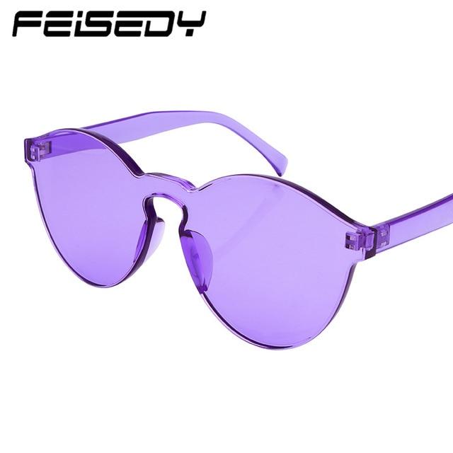 FEISEDY Lunette de soleil - Femme - violet - 377pulV