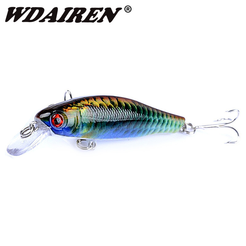1Pcs Fishing Lure 8.5cm 8.7g Wobbler Minnow baits Kunstig Japan Hard Swimbait Bait Crankbait 6 # Kroker Fish Tackle WD-381