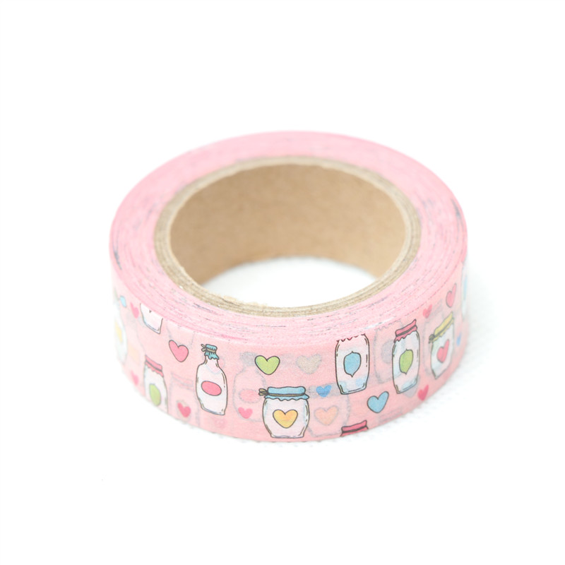1.5cm*10m Love Wishing Bottle Washi Tape Adhesive Tape DIY Scrapbooking Sticker Label Craft Masking Tape