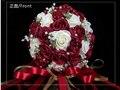 2017 Дешевые Свадебный Букет Розовый/Красный/Белый/Бургундия Люкс Для Невесты Цветок Искусственный Цветок Розы Букет Невесты Buque де noiva