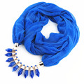 2017 Women Fashion Fasbys Charms Scarf Bullet Pendant Bufanda Jewelry Scarves Necklace Scarf Spring Summer Fall Cachecol Schal