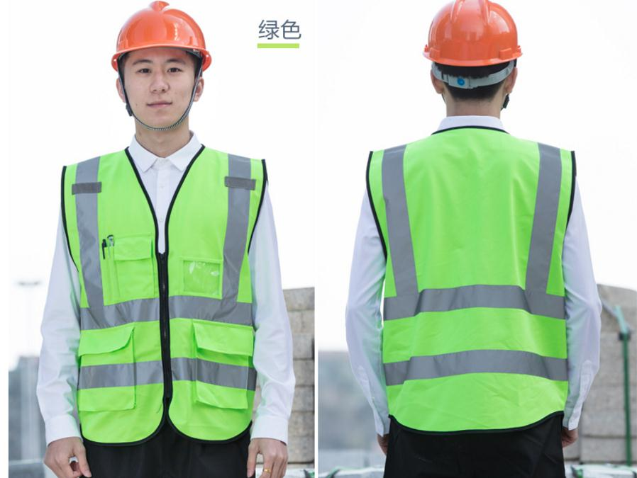 Work safe reflective vest, multi-color multi-pocket public places work uniforms, can print logo.