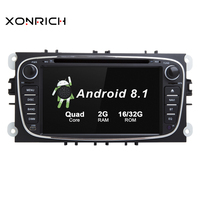 New Arrival System Car Multimedia player Android 8.1 GPS Autoradio 2 Din For FORD/Focus/Mondeo/S MAX/C MAX/Galaxy IPS WIFI OBD