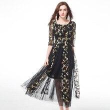 TAOYIZHUAI Women Dresses Elegant Sundress Summer Dress 2017 Plus Size L-5XL Fit 100 Kg Half Sleeve Print Lace Dress vestidos