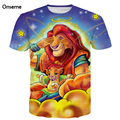Onseme Newest Anime t shirts Funny Dragon Ball King Of Lion Prints tshirts tees Cute Kid lions 3D t shirt Men Women Tee Tops