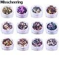 1 unids Shinning Ronda Nail Art Glitter Decoración Tamaños Mix Diseño 3D Con Encanto Lentejuelas Polvo Herramientas de Manicura de Uñas