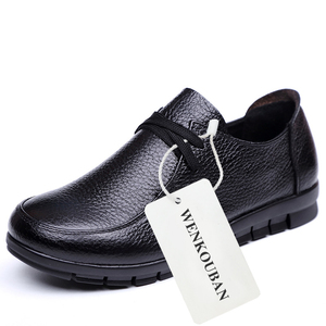 Image 5 - Designer Women Flats Genuine Leather Shoes Female Slip on Loafers Anti Slip Moccasins Casual Zapatillas Mujer 2020 Plus Size