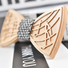 Wooden Bow Tie Solid