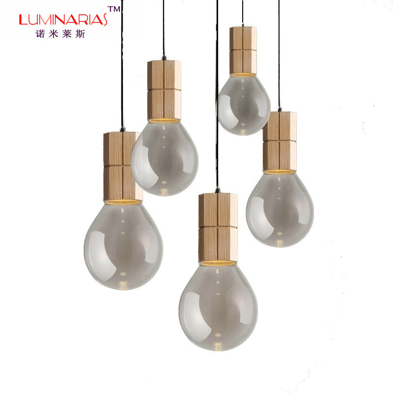 все цены на Lovely Design Nordic Home Wood Pendant Lamp Living Room Study Room Dinning Room Pendant Light Clothing Store Cafe Bar Lighting