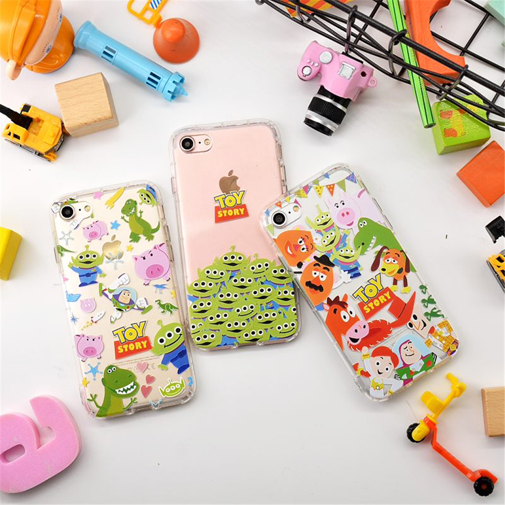2017 Air Cushion Toy Story Relief TPU Phone Shell Case For iphone 6 6plus ,Silicone Clear Back Cover For iphone 7 7plus Capinha