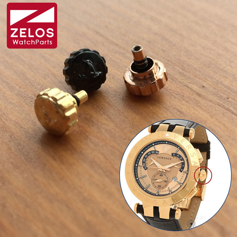 6.0mm Steel Double Waterproof Watch Crown For VER SACE V