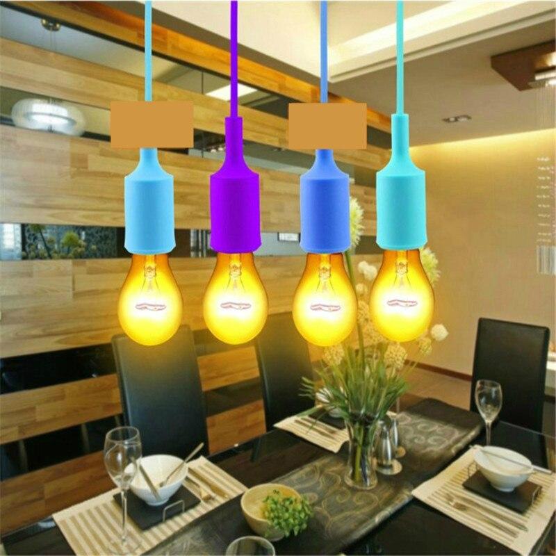Bases da Lâmpada lâmpada do teto tampa da Product : Colorful E27 Lamp Cover / E27 Silicone Cap