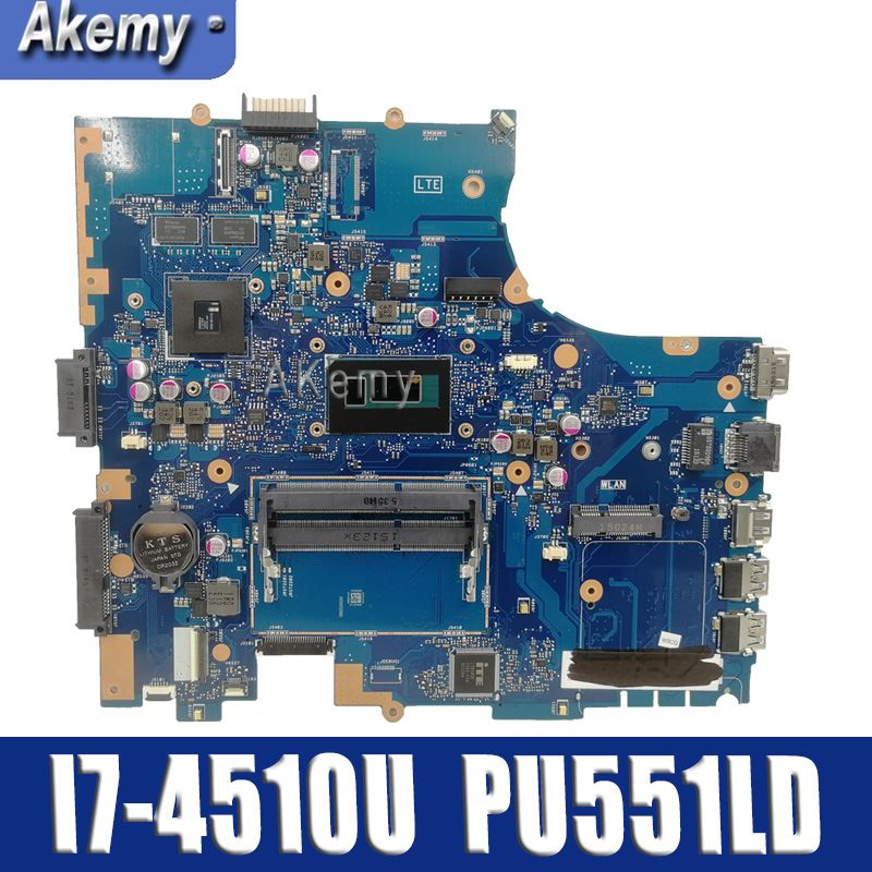 Amazoon PU551LD Motherboard I7-4510U For ASUS PRO551L PU551LD PU551LA Laptop Motherboard PU551LD Mainboard PU551LD Motherboard