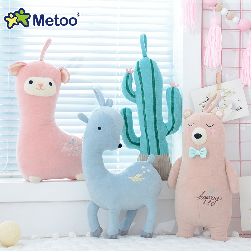 Sweet Cartoon Animals Pillow Metoo Doll Soft Plush Stuffed Cute Kawaii Toys For Girl Baby Kid Children Christmas Birthday Gift цена