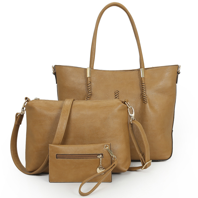 Vintage Women Leather handbag set Female big tote bag crossbody bags for women Messenger Bags ladies hand bags bolsas bolsos sac