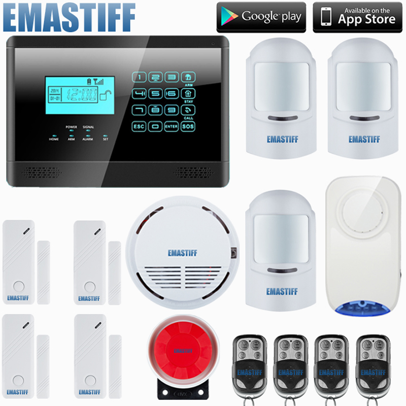 IOS/Android APP 850/900/1800/1900MHz Wireless GSM home PIR alarm Secure system with built-in speaker Battery F intercom Security free shipping lcd dispaly home wireless gsm alarm system 850 900 1800 1900mhz