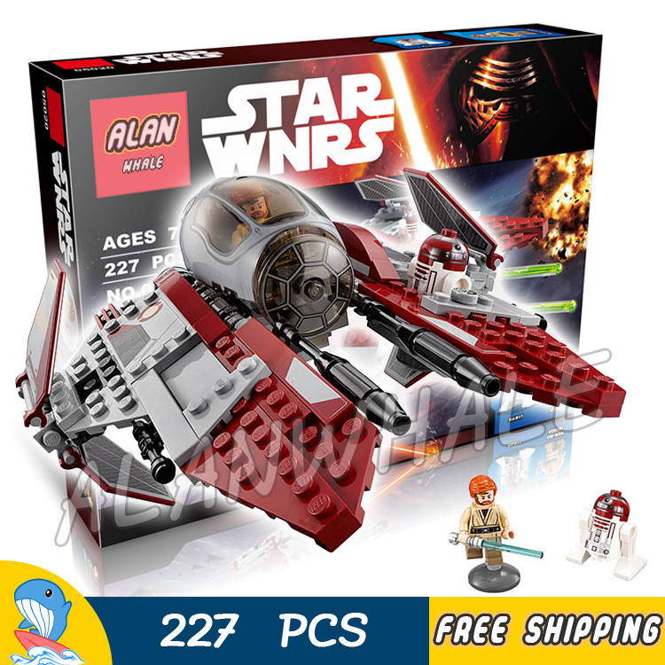 227pcs New Star Wars Obi-Wan's Jedi Interceptor Universe Model Assemble Building Blocks Movie Children Toys Compatible With Lego universe ru bun lock children puzzle toy building blocks
