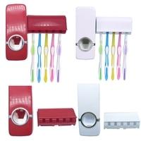 Креативный настенный стеллаж автоматический диспенсер для зубной пасты с 5 держателями для зубных щеток аксессуары для ванной комнаты укра...