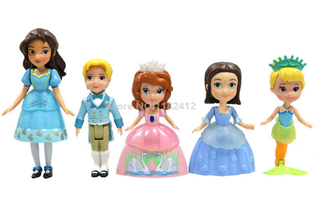 Princess Sofia The First Oona Mermaid Prince James Figure Play Set Of 5 Action Figures Toy