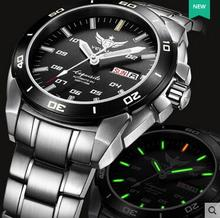 Yelang Automatic watch Tritium Ligth T100 Japan TOP 24Jewels Movement Waterproof 100m Date Day Sapphire Swim Watch