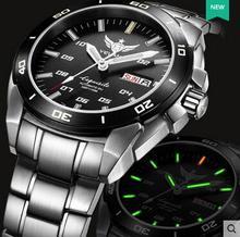 Yelang montre automatique Tritium Ligth T100 japon TOP 24 bijoux mouvement étanche 100m Date jour saphir montre de bain