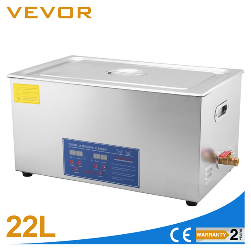 VEVOR Stainless Steel 22 L  Ultrasonic Cleaner Device Ultrasonic Cleaning Equipment For Jewelry  Glasses And Timepieces