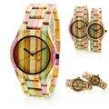 Venta caliente de Las Mujeres Relojes de pulsera de Cuarzo Reloj Reloj De Madera De Bambú Natural De Madera De Bambú Hecha A Mano de Primeras Marcas de Lujo Relojes de Madera Los Hombres