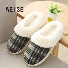 Cotton Slippers Non-Slip Shoes That Occupy S Household Slippers Thick Soles Slippers Male Winter Heat Preservation Cotton Shoes