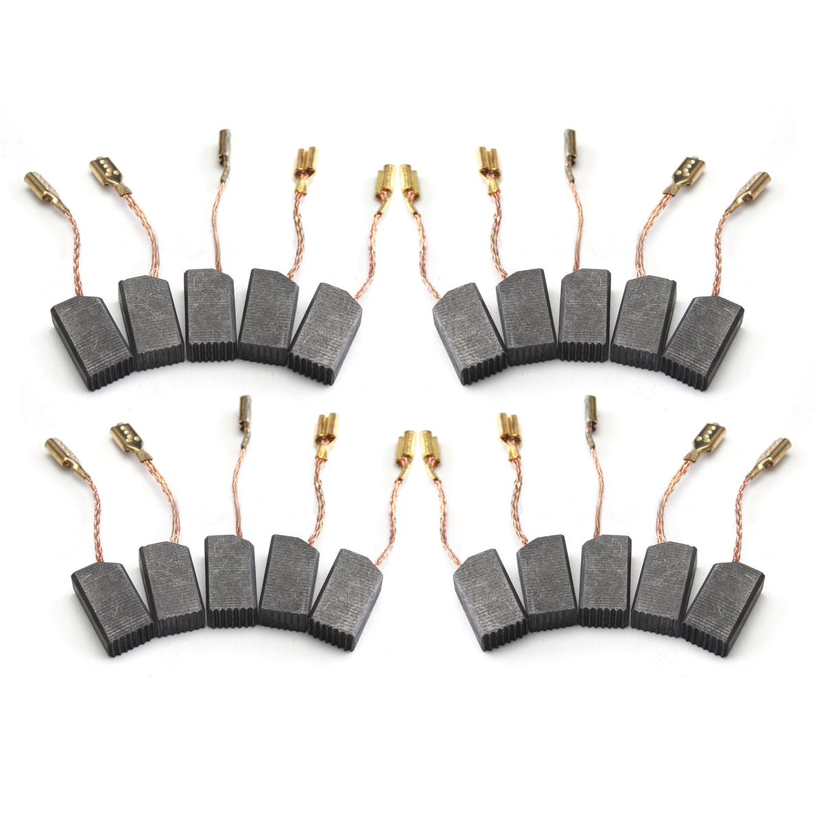 OSSIEAO 20pcs 6*8*14mm Graphite Copper Motor Carbon Brushes Set 20pcs 5x10x19mm electric motor graphite carbon brushes springs