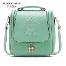 Sunny shop señora summer pretty mujeres de corea del hombro de las mujeres de la vendimia fresca bolsa de estudiantes de la escuela bolsa de mensajero de las mujeres bolsa de diseñador de moda