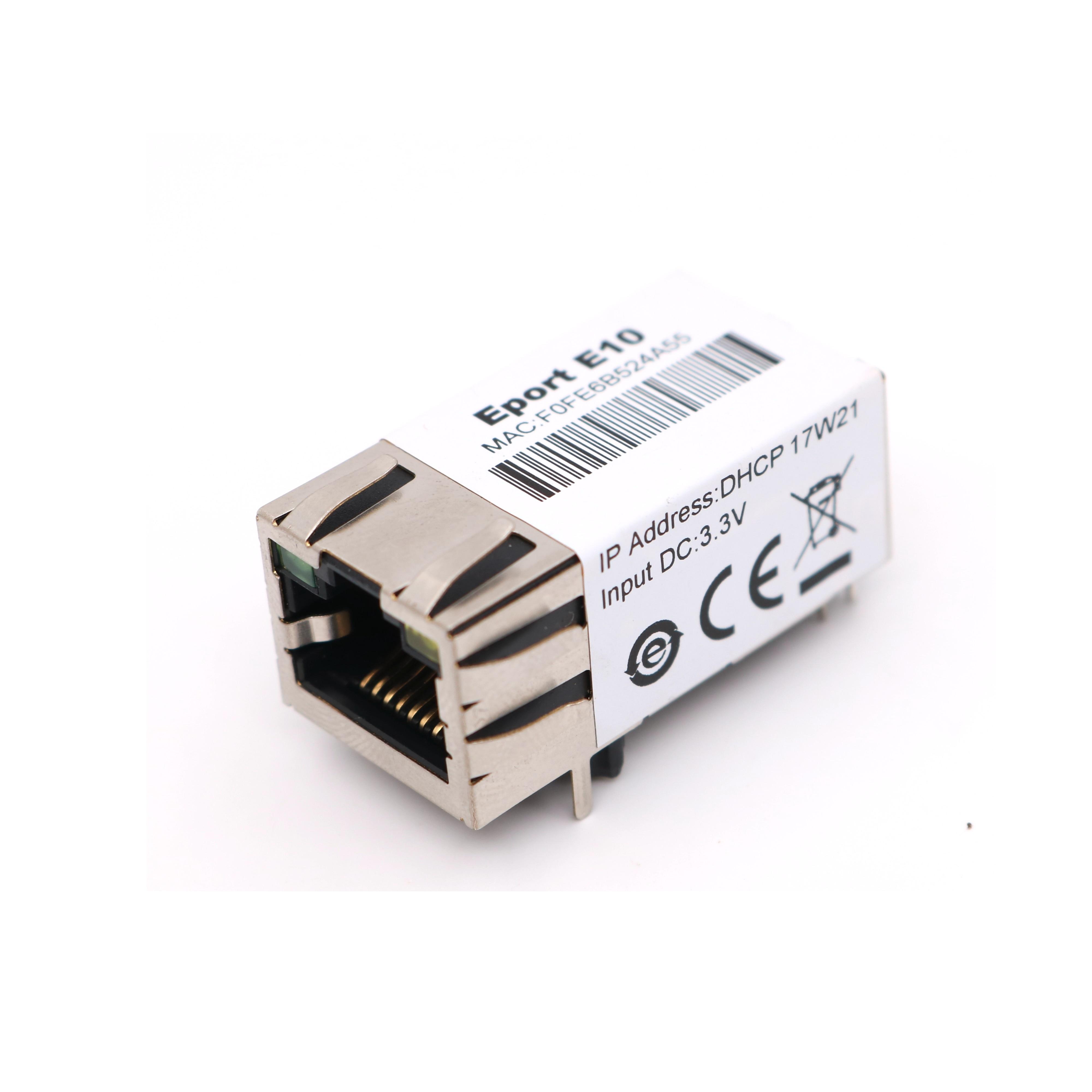 serial port TTL go to Ethernet module 10/100 TCP/IP RJ45