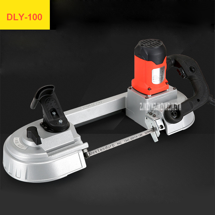 DLY-100 Hand-held Band Saw Machine High-quality Bandsaw Machine Multifunctional Horizontal Small Sawing Machine 110V-220V 680W