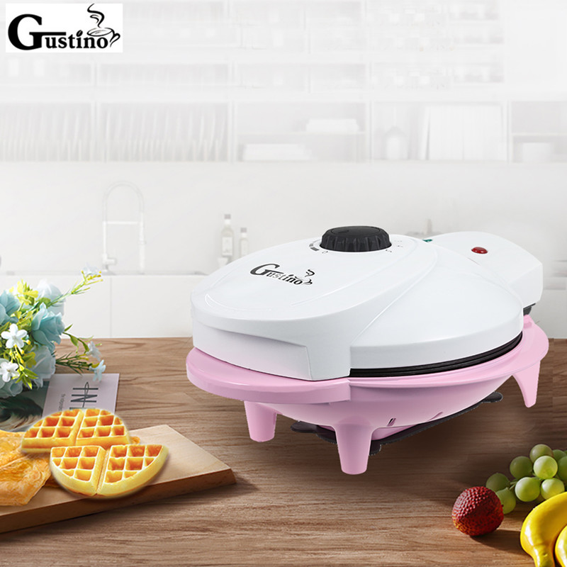 Gustino Automatic Double-Sided Heating Baking Waffle Maker Machine 800-1000W Pro Electric Cookie Maker Cooking Appliances high quality cookies mold gun 12 flower mold 6 pastry tips cookie cutter cookie machine biscuit maker diy baking tools m1299