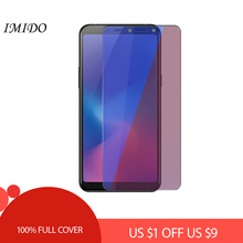 IMIDO Full Cover Anti Blue Screen Protector for Samsung A6 A7 A8 Plus 2018 Tempered Glass Film
