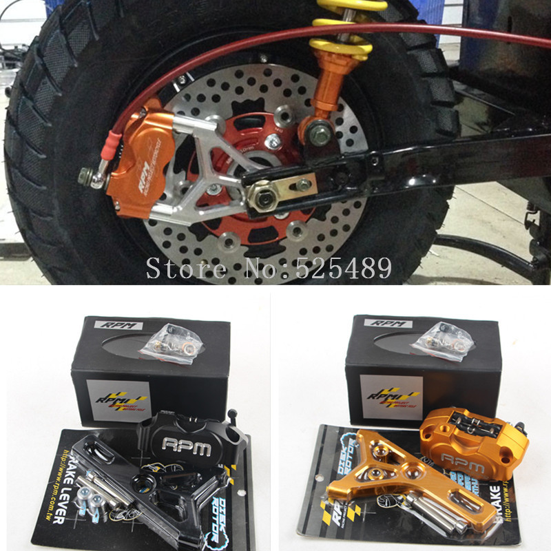 6 Color RPM Brand CNC Brake Caliper+Rear Wheel 220mm Disc Brake Pump Adapter Bracket Sets For Yamaha Electric Motorcycle Scooter keoghs real adelin 260mm floating brake disc high quality for yamaha scooter cygnus modify