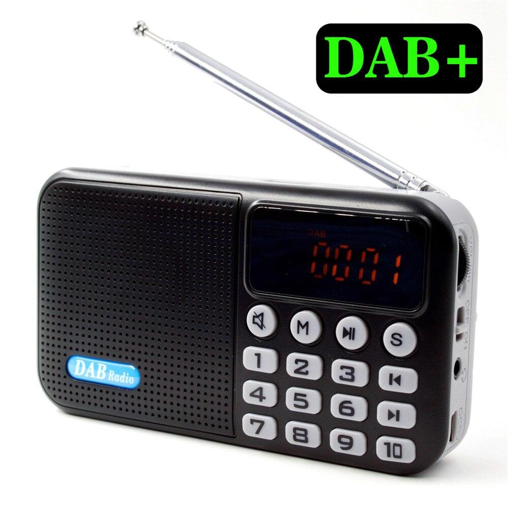 Portable Multi-fonction DAB + Radio Numérique Récepteur Bluetooth Haut-Parleur USB Disque TF Carte MP3 Lecteur de Musique FM Radio récepteur