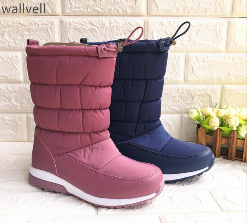 Snow Boots Lady Boots Winter Boots Martin Boots Warm Non Slip Carved Hollow Flanged Shorts Riveted Buckles
