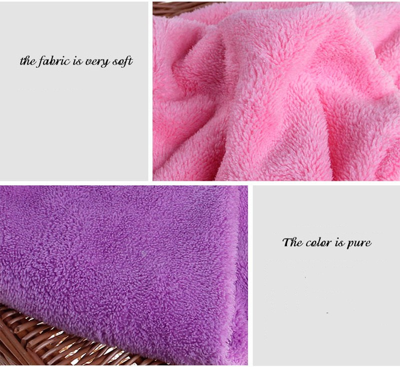 GIANTEX Women Bathroom Super Absorbent Quick-drying Microfiber Bath Towel Hair Dry Cap Salon Towel 25x65cm U0755 8