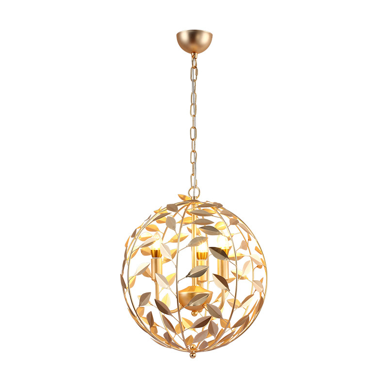 Nordic round gold pendant light office lamps living room  restaurant bedroom clothing store pendant lamps ZA118626